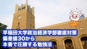 早稲田大学政治経済学部 英語勉強法と